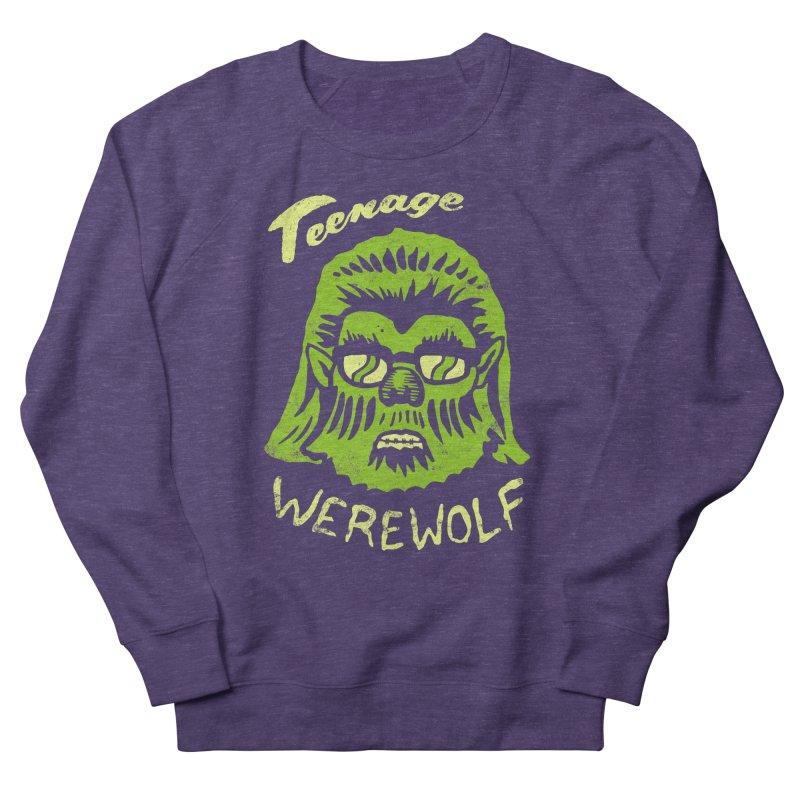 Teenage Werewolf - moonlight edition Women's French Terry Sweatshirt by Cheap Chills Fan Club