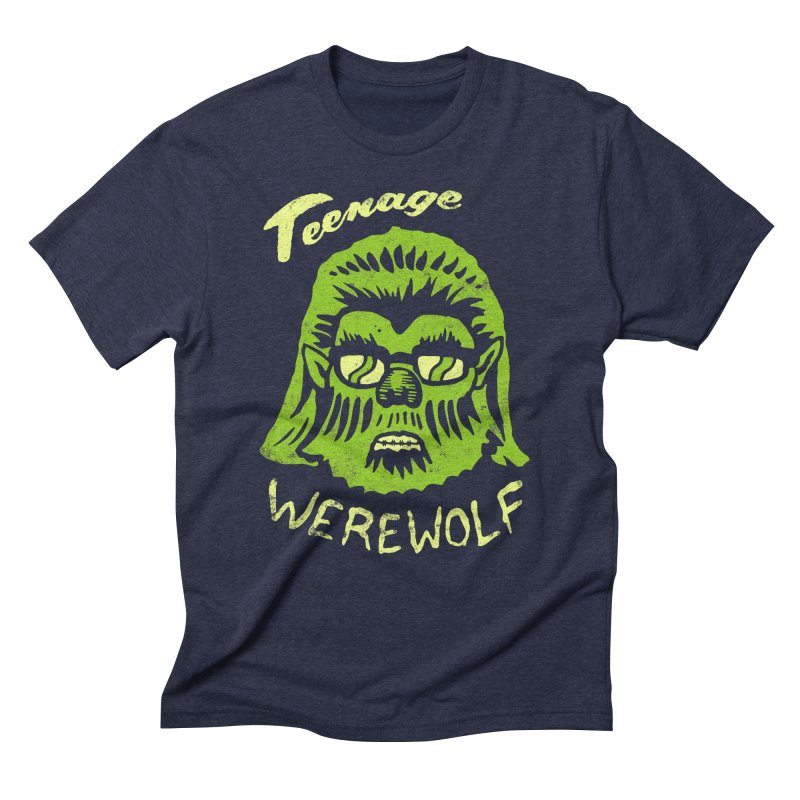 Teenage Werewolf - moonlight edition Men's Triblend T-Shirt by Cheap Chills Fan Club