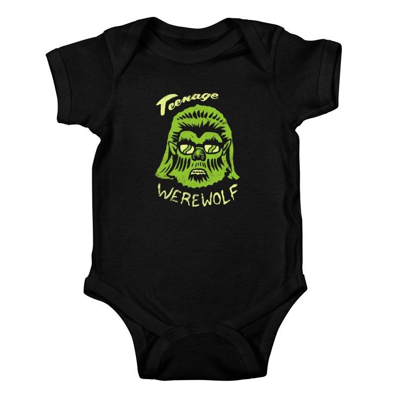 Teenage Werewolf - moonlight edition Kids Baby Bodysuit by Cheap Chills Fan Club
