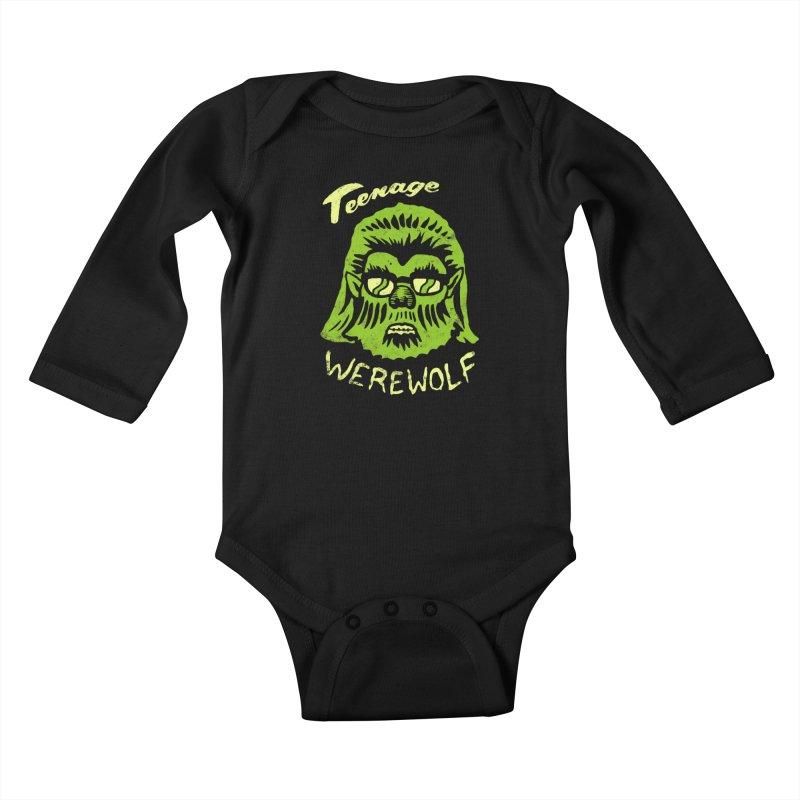 Teenage Werewolf - moonlight edition Kids Baby Longsleeve Bodysuit by Cheap Chills Fan Club