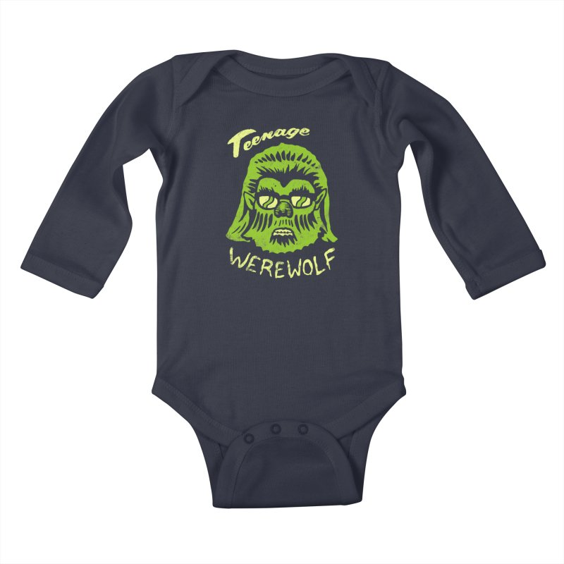 Teenage Werewolf - moonlight edition Kids Baby Longsleeve Bodysuit by Cheap Chills Fan Club