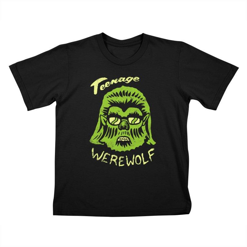 Teenage Werewolf - moonlight edition Kids T-shirt by Cheap Chills Fan Club