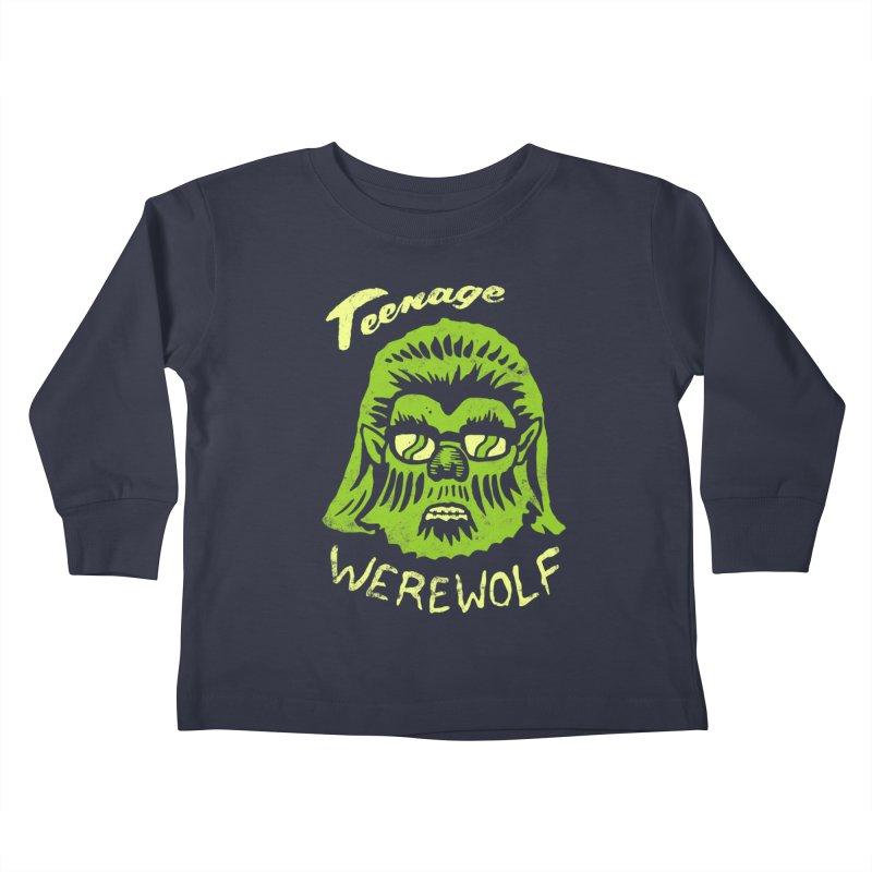 Teenage Werewolf - moonlight edition Kids Toddler Longsleeve T-Shirt by Cheap Chills Fan Club
