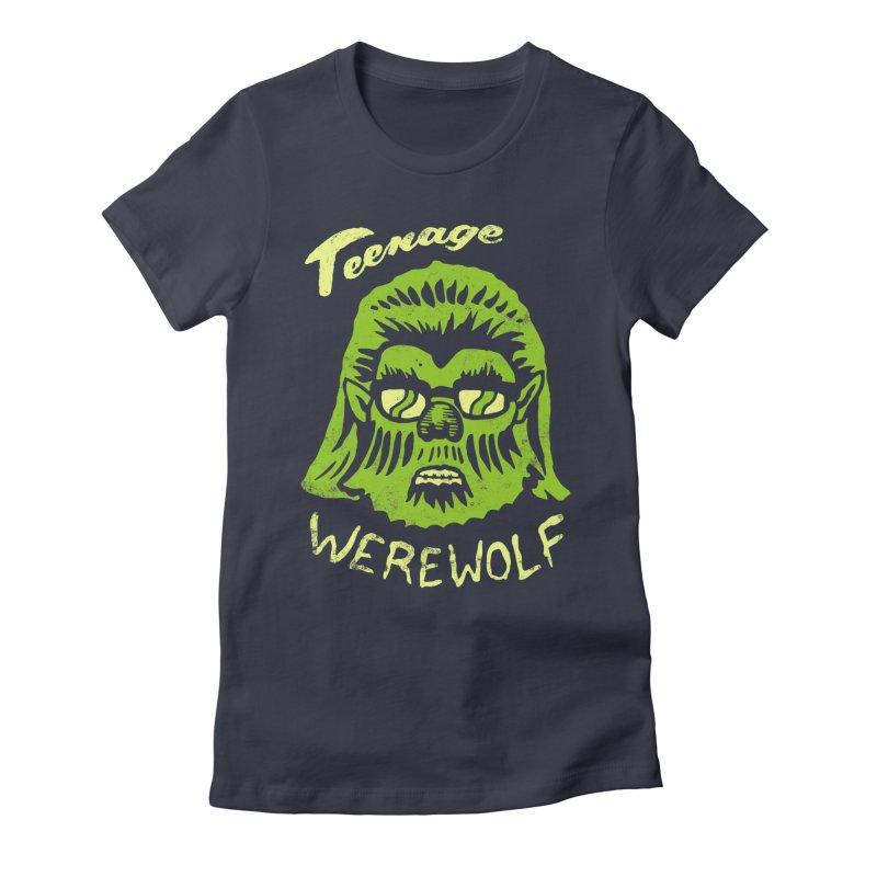 Teenage Werewolf - moonlight edition Women's Fitted T-Shirt by Cheap Chills Fan Club