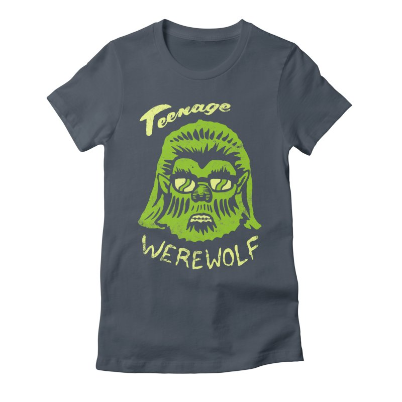 Teenage Werewolf - moonlight edition Women's Fitted T-Shirt by Cheap Chills Fan Club