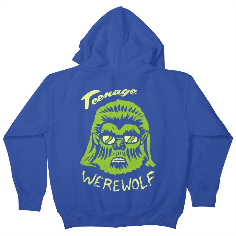 Teenage Werewolf - moonlight edition Kids Zip-Up Hoody by Cheap Chills Fan Club