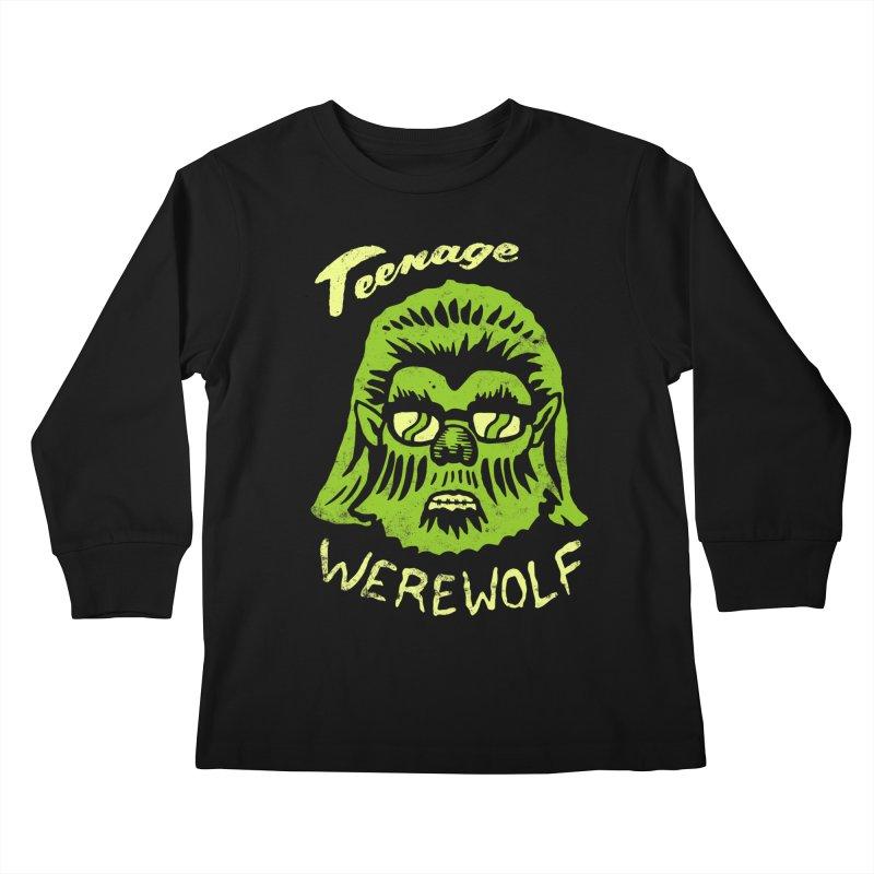 Teenage Werewolf - moonlight edition Kids Longsleeve T-Shirt by Cheap Chills Fan Club