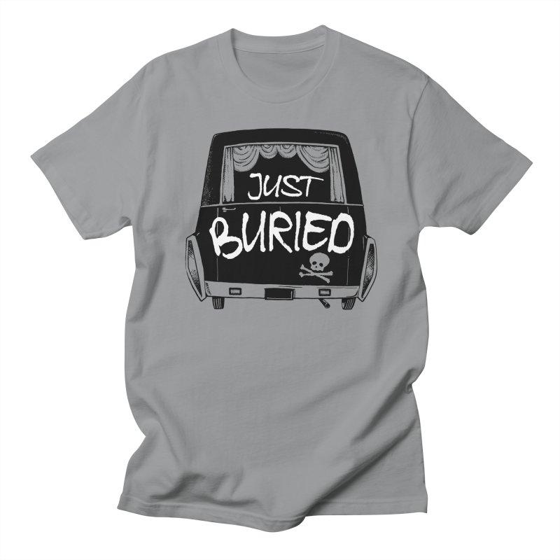 Just Buried - Hearse car Men's T-Shirt by Cheap Chills Fan Club