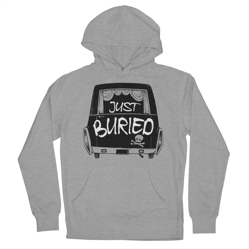 Just Buried - Hearse car Women's French Terry Pullover Hoody by Cheap Chills Fan Club