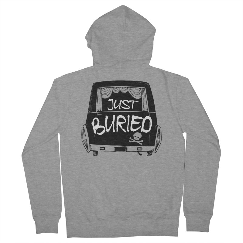 Just Buried - Hearse car Women's French Terry Zip-Up Hoody by Cheap Chills Fan Club