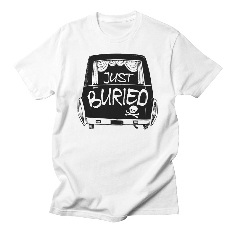 Just Buried - Hearse car Men's T-shirt by Cheap Chills Fan Club
