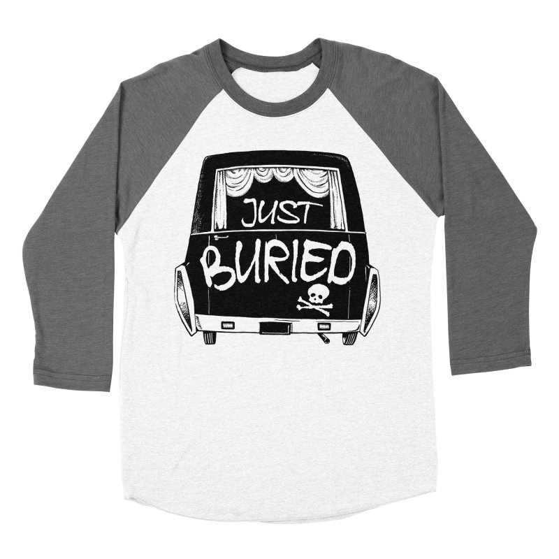 Just Buried - Hearse car Men's Baseball Triblend T-Shirt by Cheap Chills Fan Club