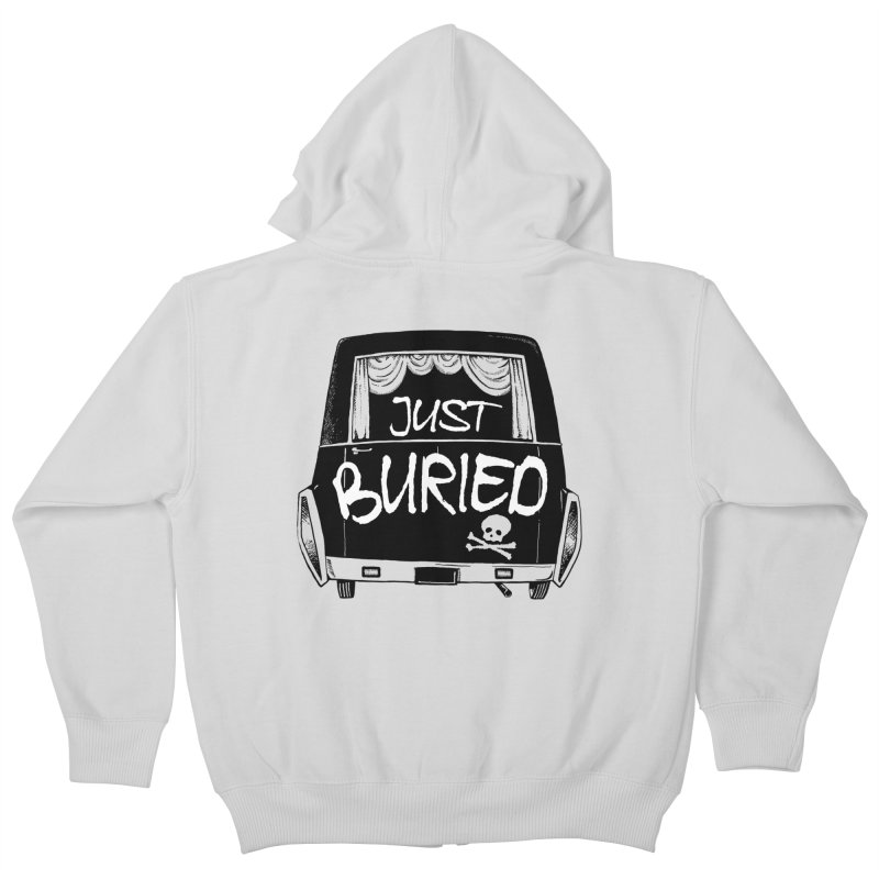 Just Buried - Hearse car Kids Zip-Up Hoody by Cheap Chills Fan Club