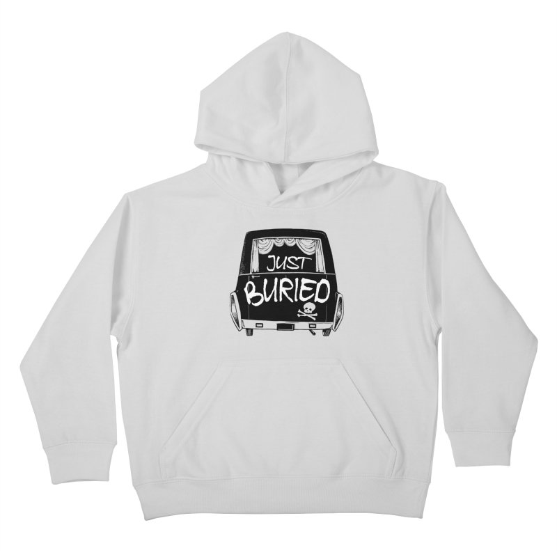 Just Buried - Hearse car Kids Pullover Hoody by Cheap Chills Fan Club