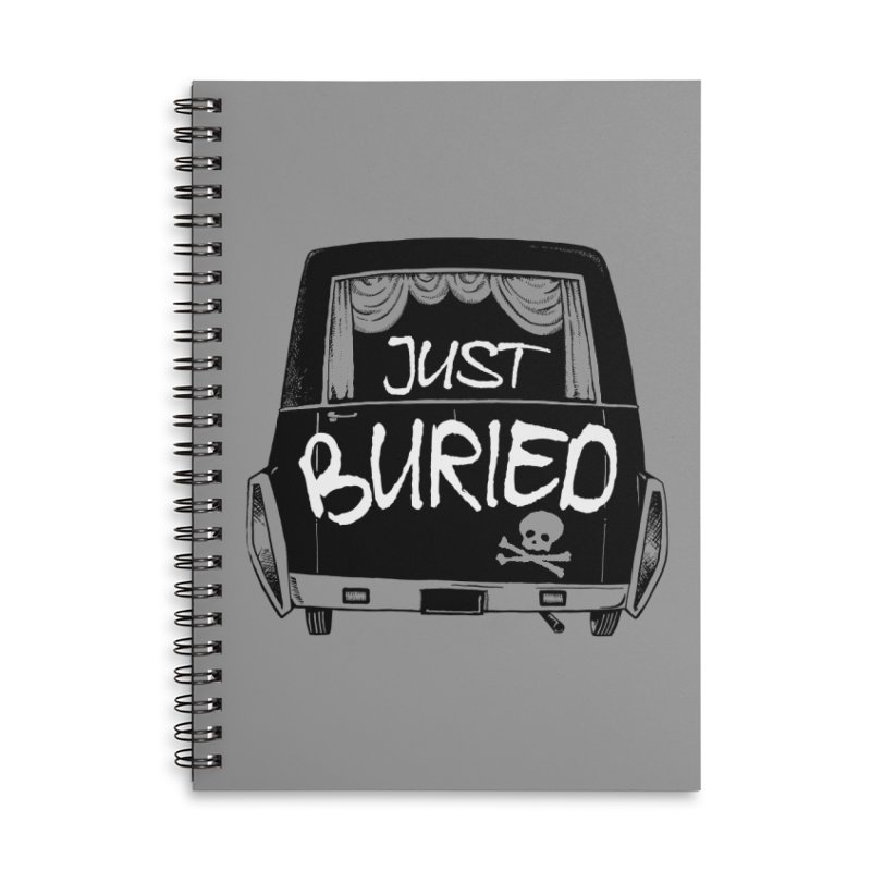 Just Buried - Hearse car Accessories Lined Spiral Notebook by Cheap Chills Fan Club