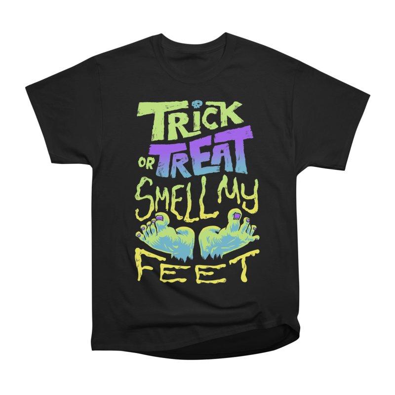 Trick or Treat Smell my Feet- Halloween Tee Men's Heavyweight T-Shirt by Cheap Chills Fan Club