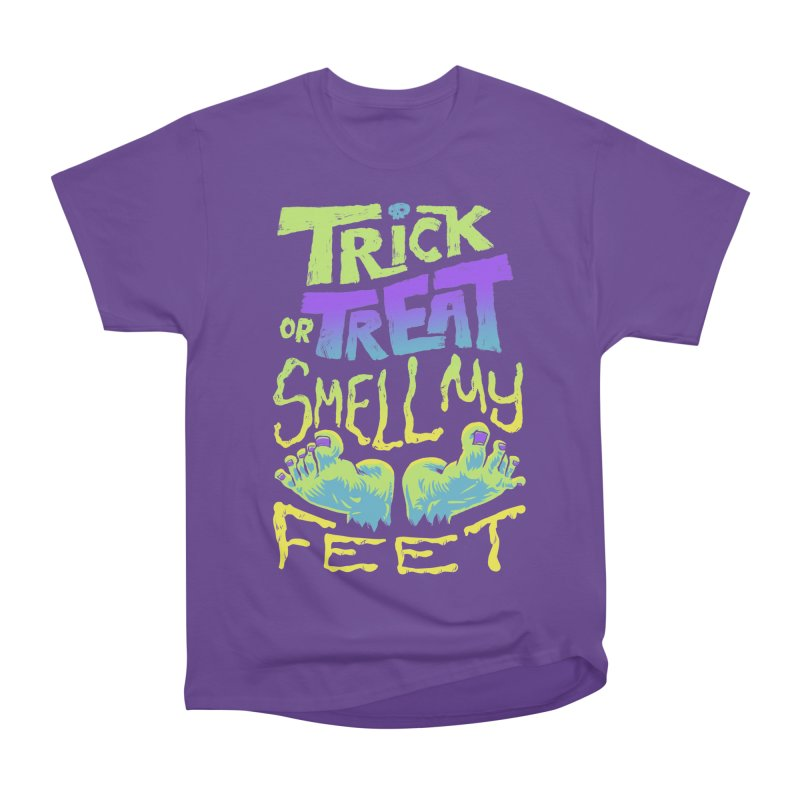 Trick or Treat Smell my Feet- Halloween Tee Men's Heavyweight T-Shirt by Cheap Chills Fan Club