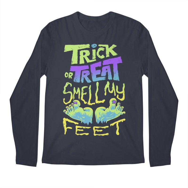 Trick or Treat Smell my Feet- Halloween Tee Men's Regular Longsleeve T-Shirt by Cheap Chills Fan Club