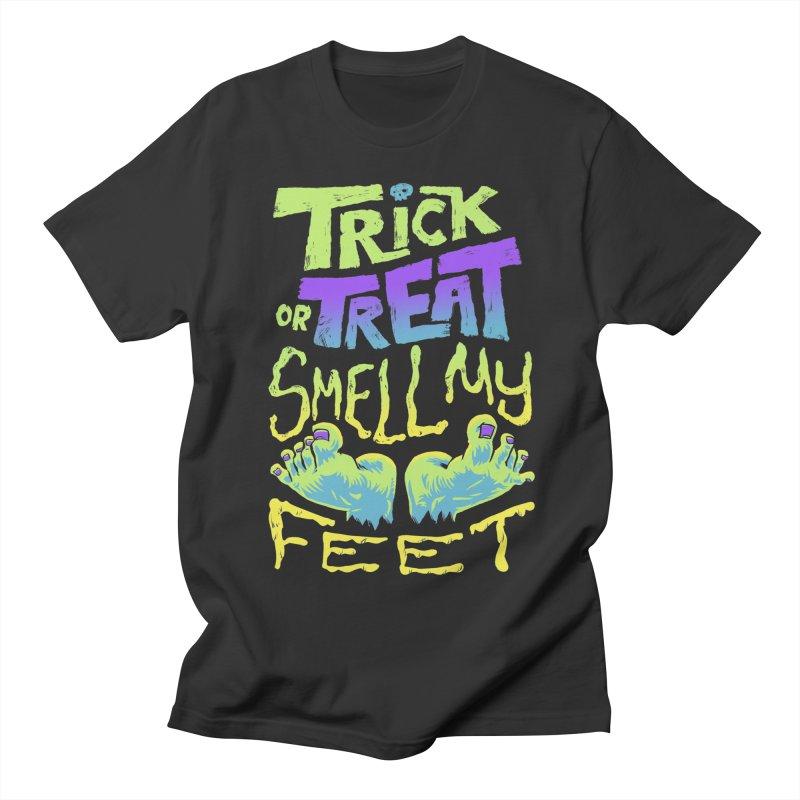 Trick or Treat Smell my Feet- Halloween Tee Men's Regular T-Shirt by Cheap Chills Fan Club