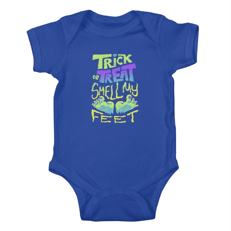 Trick or Treat Smell my Feet- Halloween Tee Kids Baby Bodysuit by Cheap Chills Fan Club