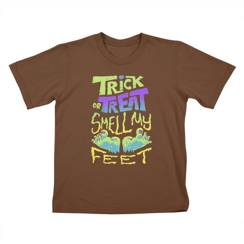 Trick or Treat Smell my Feet- Halloween Tee Kids T-Shirt by Cheap Chills Fan Club