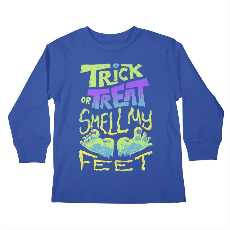 Trick or Treat Smell my Feet- Halloween Tee Kids Longsleeve T-Shirt by Cheap Chills Fan Club