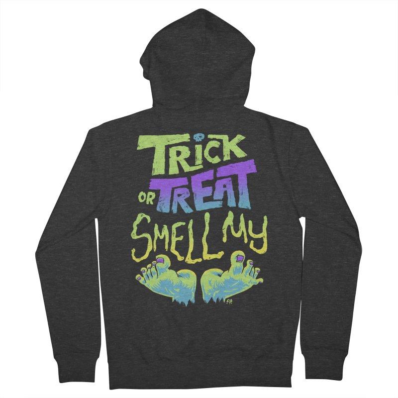 Trick or Treat Smell my Feet- Halloween Tee Women's Zip-Up Hoody by Cheap Chills Fan Club