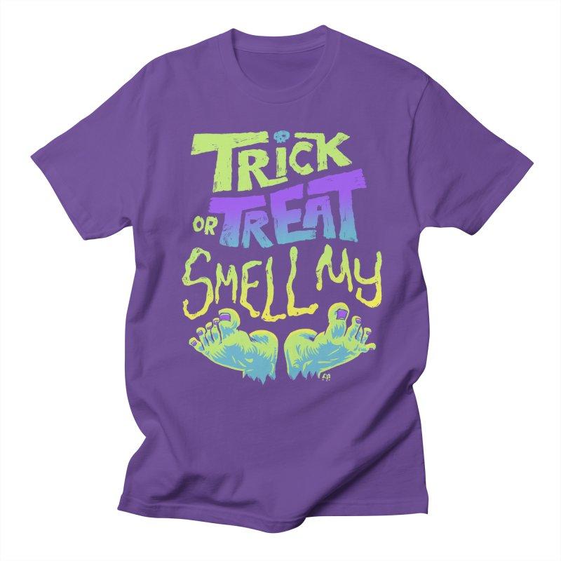 Trick or Treat Smell my Feet- Halloween Tee Women's Unisex T-Shirt by Cheap Chills Fan Club