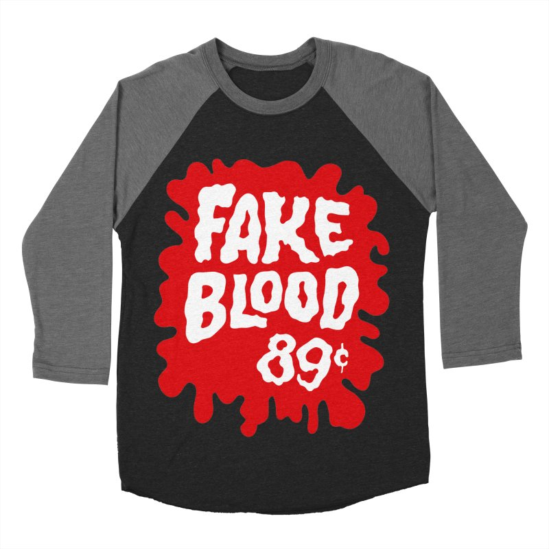 Fake Blood 89¢ Men's Baseball Triblend Longsleeve T-Shirt by Cheap Chills Fan Club