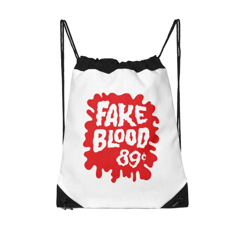 Fake Blood 89¢ Accessories Drawstring Bag Bag by Cheap Chills Fan Club