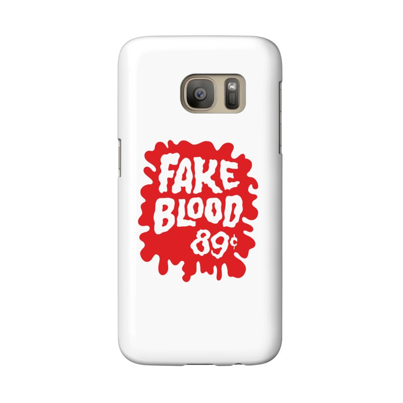 Fake Blood 89¢ Accessories Phone Case by Cheap Chills Fan Club