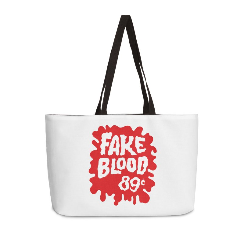 Fake Blood 89¢ Accessories Weekender Bag Bag by Cheap Chills Fan Club