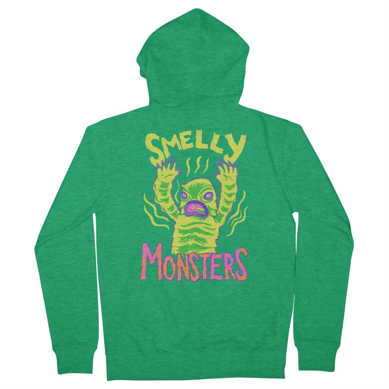 Smelly Monsters - Weird Swamp Creature That Smells T-shirt Men's Zip-Up Hoody by Cheap Chills Fan Club