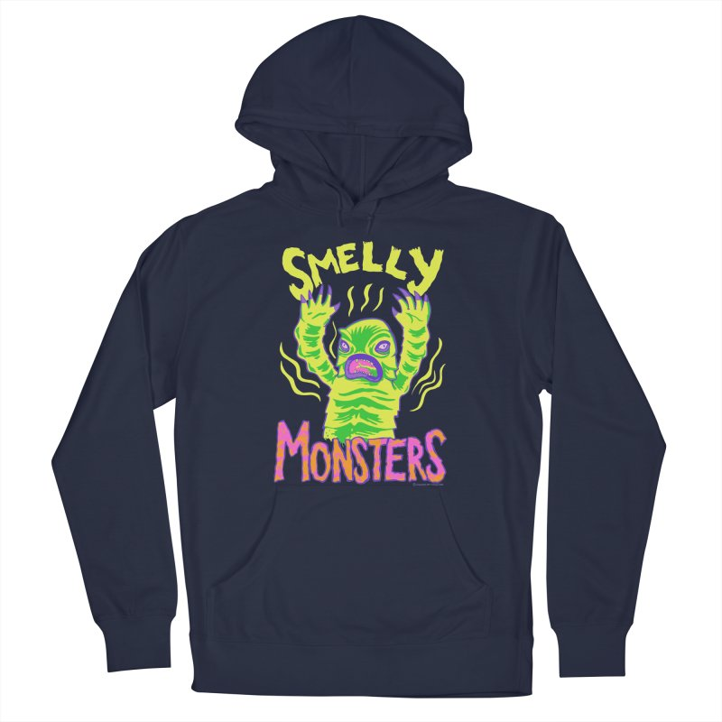 Smelly Monsters - Weird Swamp Creature That Smells T-shirt Men's Pullover Hoody by Cheap Chills Fan Club