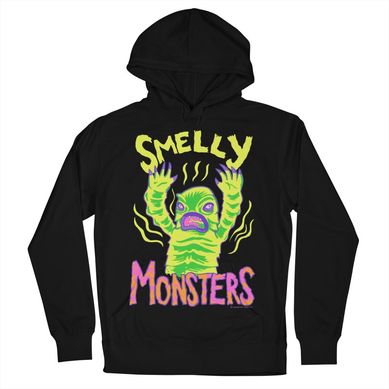 Smelly Monsters - Weird Swamp Creature That Smells T-shirt Men's French Terry Pullover Hoody by Cheap Chills Fan Club
