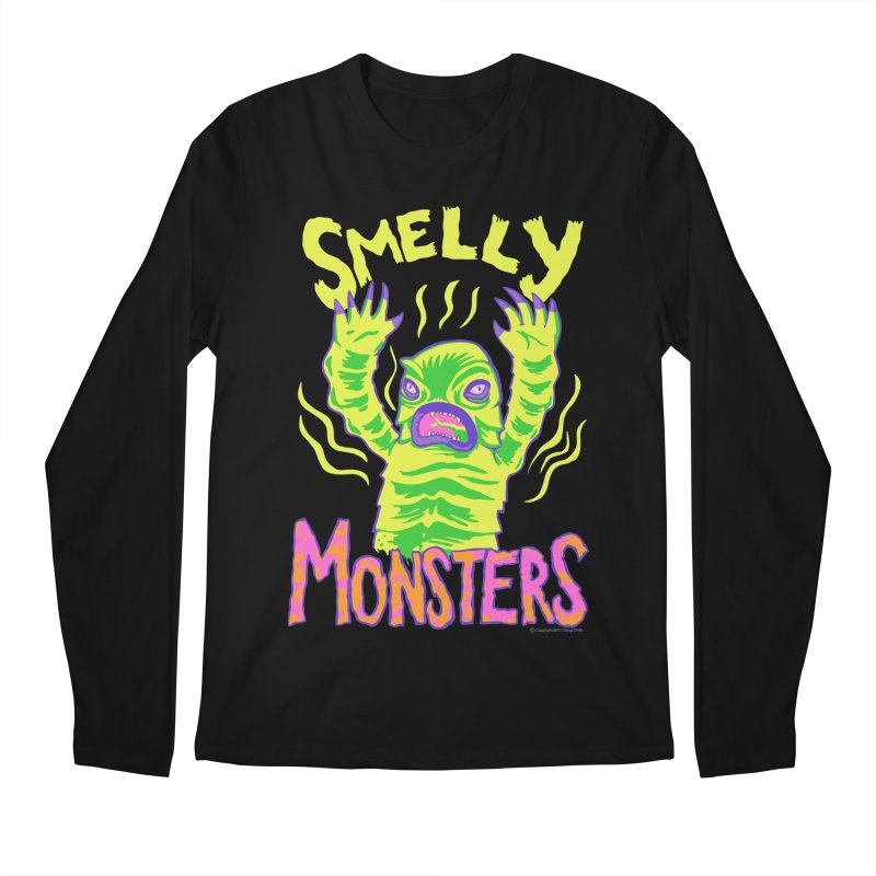 Smelly Monsters - Weird Swamp Creature That Smells T-shirt Men's Regular Longsleeve T-Shirt by Cheap Chills Fan Club