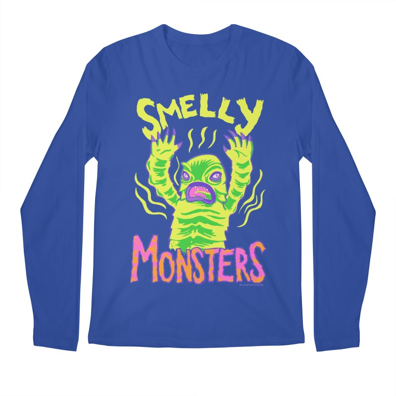 Smelly Monsters - Weird Swamp Creature That Smells T-shirt Men's Longsleeve T-Shirt by Cheap Chills Fan Club
