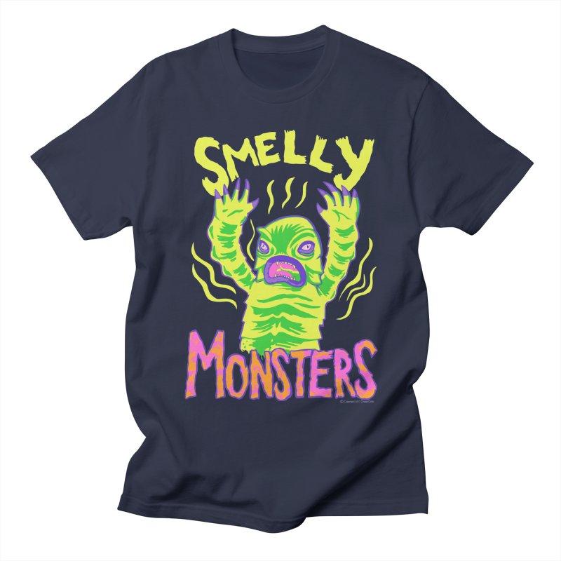 Smelly Monsters - Weird Swamp Creature That Smells T-shirt Men's T-Shirt by Cheap Chills Fan Club