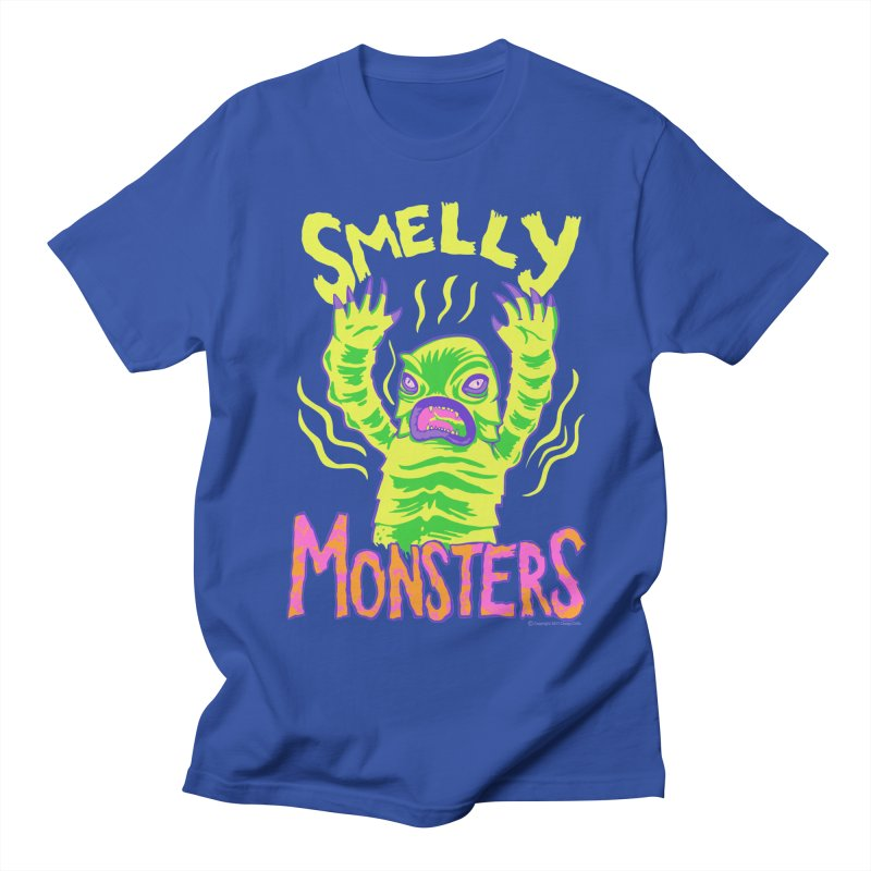 Smelly Monsters - Weird Swamp Creature That Smells T-shirt in Men's Regular T-Shirt Royal Blue by Cheap Chills Fan Club
