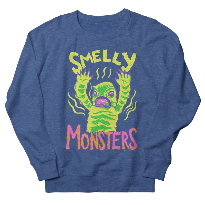 Smelly Monsters - Weird Swamp Creature That Smells T-shirt Men's French Terry Sweatshirt by Cheap Chills Fan Club