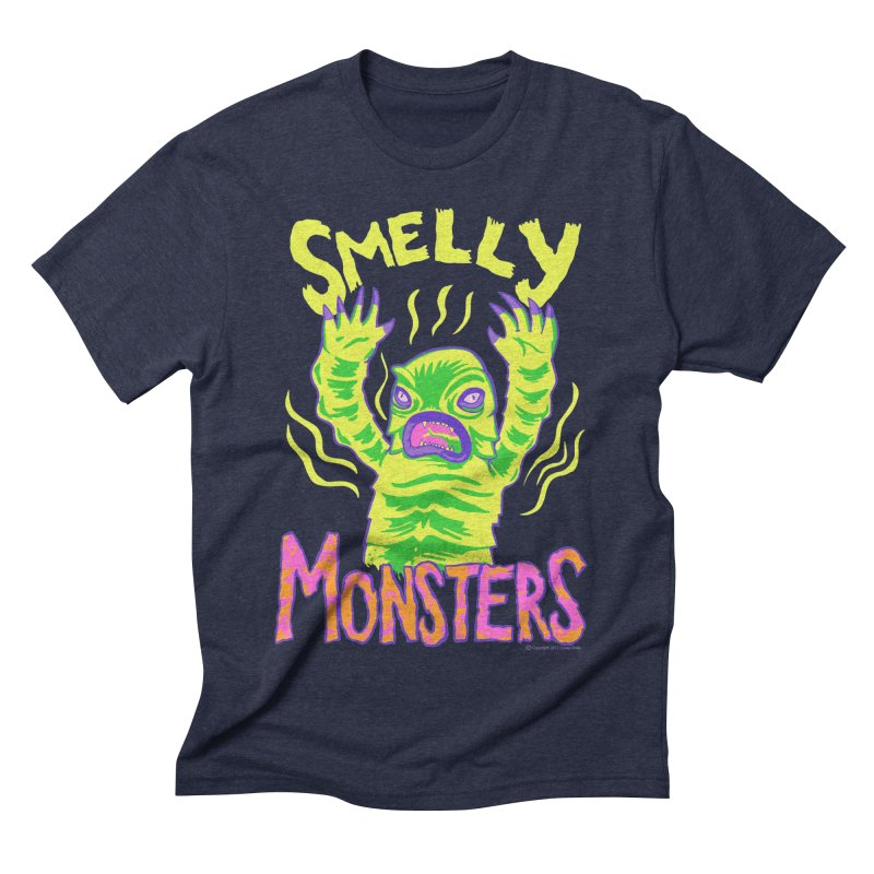 Smelly Monsters - Weird Swamp Creature That Smells T-shirt Men's Triblend T-Shirt by Cheap Chills Fan Club
