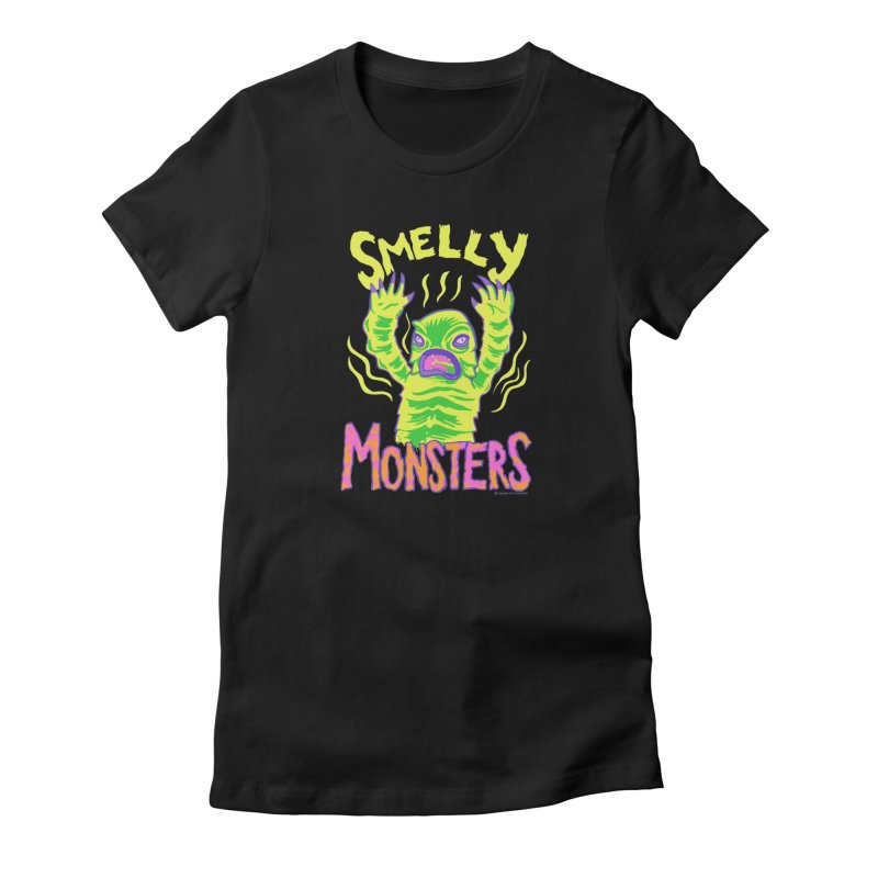 Smelly Monsters - Weird Swamp Creature That Smells T-shirt Women's T-Shirt by Cheap Chills Fan Club
