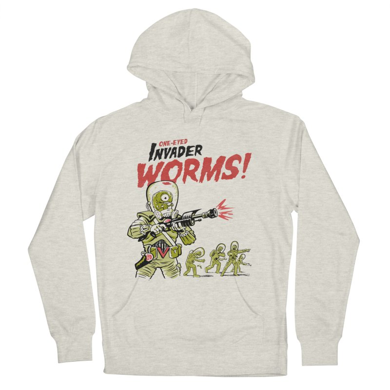 One-Eyed Invader Worms! Women's Pullover Hoody by Cheap Chills Fan Club