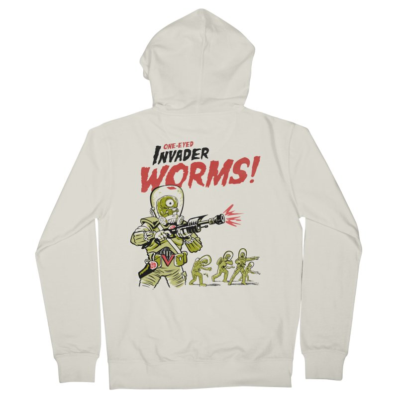One-Eyed Invader Worms! Women's Zip-Up Hoody by Cheap Chills Fan Club