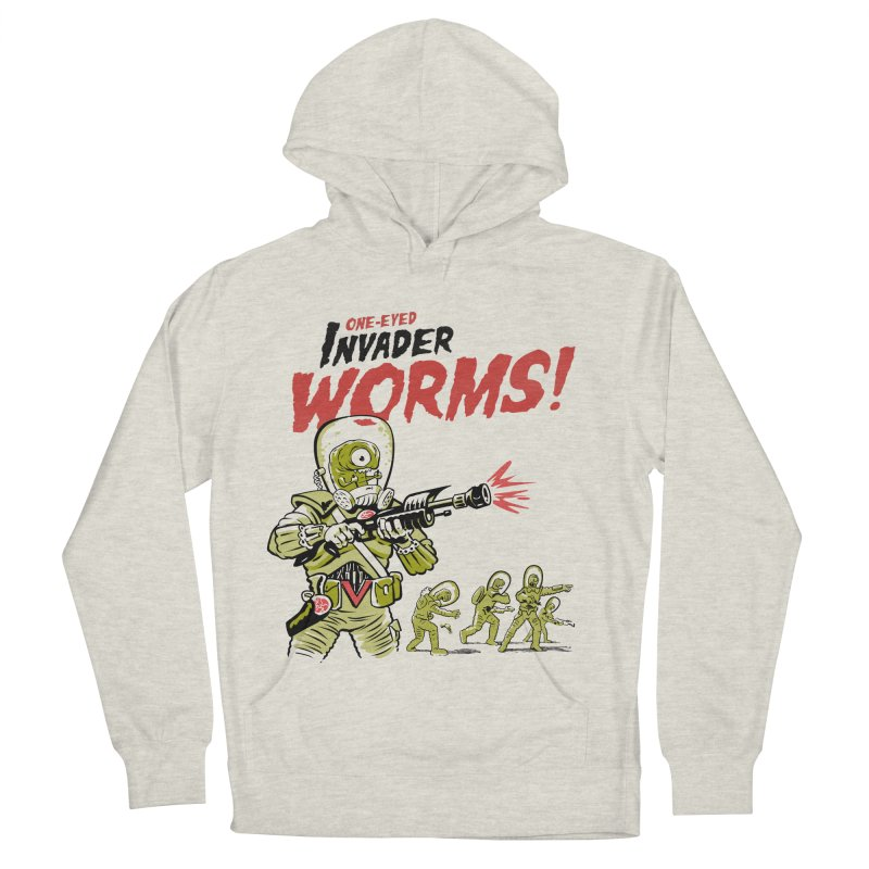 One-Eyed Invader Worms! Women's French Terry Pullover Hoody by Cheap Chills Fan Club