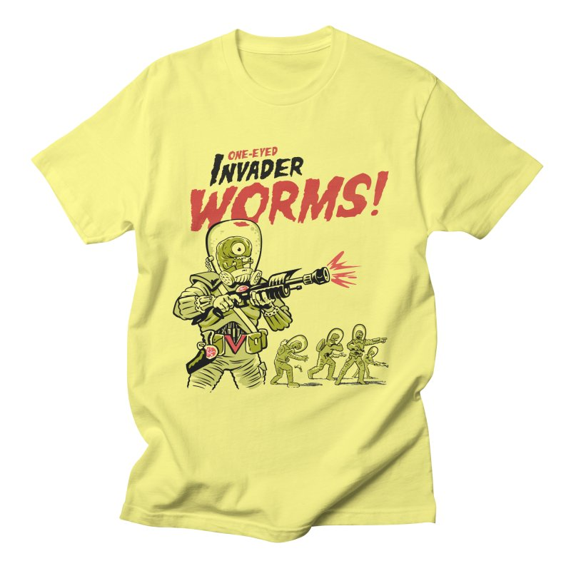 One-Eyed Invader Worms! Women's Regular Unisex T-Shirt by Cheap Chills Fan Club