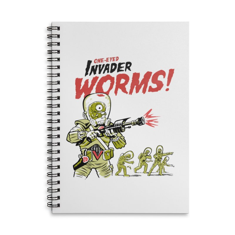 One-Eyed Invader Worms! Accessories Lined Spiral Notebook by Cheap Chills Fan Club
