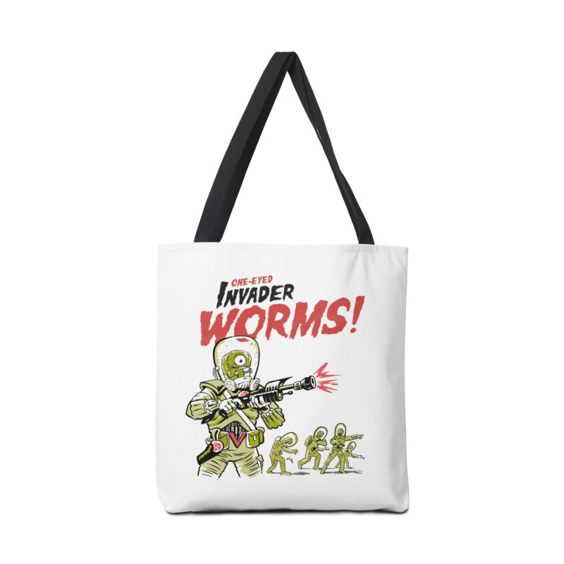 One-Eyed Invader Worms! Accessories Tote Bag Bag by Cheap Chills Fan Club