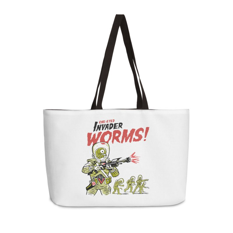 One-Eyed Invader Worms! Accessories Weekender Bag Bag by Cheap Chills Fan Club
