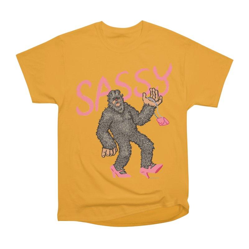 Sassy - Sasquatch in High Heels Men's Heavyweight T-Shirt by Cheap Chills Fan Club